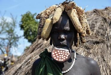 Ethiopie - Femme Mursi